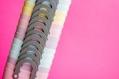 Mini Plastic Bags colorido con las manijas imagen de archivo