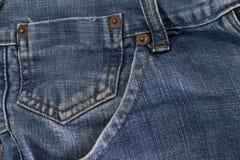 Mini pocket on jean. Mini pocket on blue jean on big pocket Royalty Free Stock Images