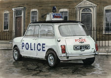 Mini Police Car Stock Foto's