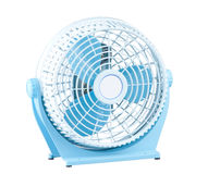 Mini portable electric fan. Mini portable fan easy to use and move in a small space low voltage high speed rotor Royalty Free Stock Photo