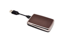 Mini  portable hdd Stock Photo