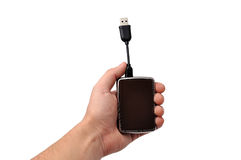 Mini  portable hdd Stock Photography