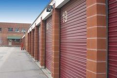 Mini portas da unidade de armazenamento Fotos de Stock