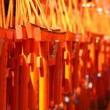 Mini portes oranges à vendre comme souvenir photo stock