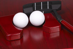 Mini positionnement de golf de bureau Photo stock