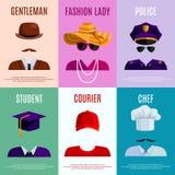 Mini Posters With Hats Caps Photographie stock libre de droits