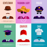 Mini Posters With Hats Caps Royalty Free Stock Photography