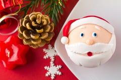 Mini postre de la Navidad Imagen de archivo libre de regalías