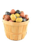 Mini potatoes with different color. Royalty Free Stock Photography