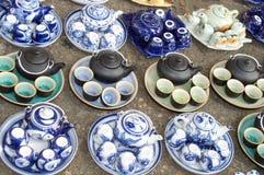 Mini pots de thé Photographie stock libre de droits