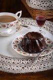 Mini Pound Cake - Chocolate Hazelnut, Tea, Lace, Liquor Royalty Free Stock Images