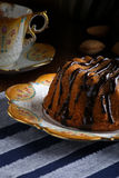 Mini Pound Cake - Hazelnut Cake With Chocolate Drizzle Royalty Free Stock Photography