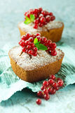 Mini pound cakes with red currant Stock Image