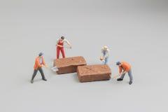 mini pracownik ciie pices czekolada Obraz Stock