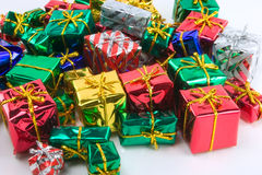 Mini presents beta. A pile of wrapped presents royalty free stock photography