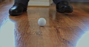 Mini primer del golf en casa almacen de video