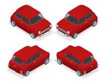 Mini primo piano isometrico del modello dell'automobile Fotografie Stock Libere da Diritti