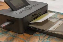 Mini printer in full use Stock Photos