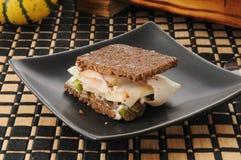 Mini pumpernickel sandwich Stock Images