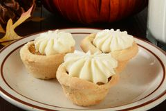 Mini pumpkin dessert tarts Stock Photography