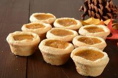Mini pumpkin dessert tarts Stock Images