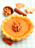 Mini pumpkin tart Stock Image