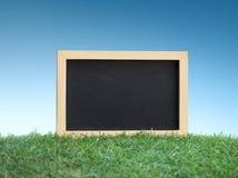 Mini quadro preto na grama verde imagens de stock royalty free