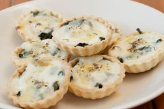 Mini Quiche Stockfoto