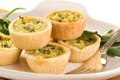 Mini quiche image stock