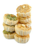 Mini Quiche Appetizers Stacked Royalty Free Stock Image
