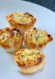 Mini quiche del formaggio Immagini Stock Libere da Diritti