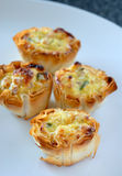 Mini quiche do queijo Imagens de Stock Royalty Free