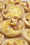 Mini quiche lorraine Royalty Free Stock Images