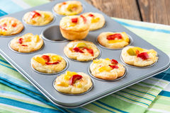 Mini quiche Royalty Free Stock Photos