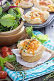 Mini quiche with puff pastry royalty free stock photo