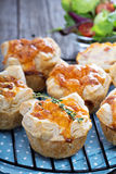 Mini quiche with puff pastry royalty free stock photography