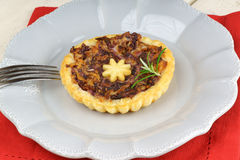 Mini quiche with trevisano chicory Royalty Free Stock Image