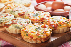 Mini quiche with vegetable Royalty Free Stock Photography