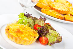 Mini Quiche With Salad Royalty Free Stock Image