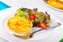 Mini Quiche With Salad Stock Images