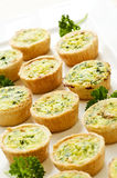 Mini quiches Royalty Free Stock Photos