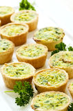 Mini quiches stock images