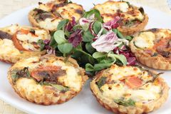 Mini quiches or tarts Stock Photography