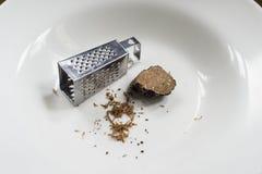 Mini râpe et truffe noire Image stock