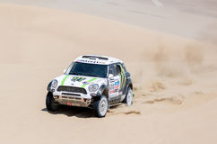 Mini Rally races Dakar 2013 Stock Photography