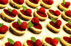 Mini Raspberry Cheesecakes Royalty Free Stock Image