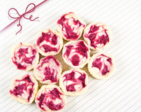 Mini Raspberry Cheesecakes In Muffin Forms Stock Images