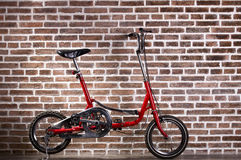 Mini red bicycle Royalty Free Stock Photography