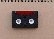 Mini Red black Video tape Stock Photos