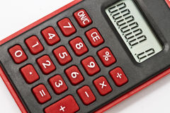 Mini red calculator Royalty Free Stock Images